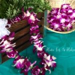 Single Dendrobium Orchid with carnation Lei